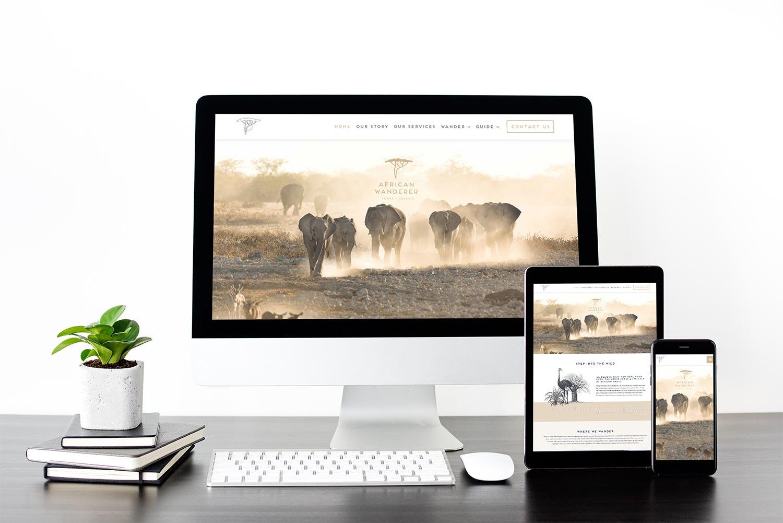 African Wanderer Website Mockup