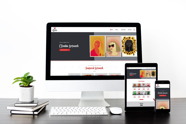 CTembo Digital Artist Website Mockup