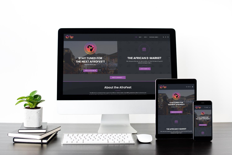 The AfroFest Website Mockup