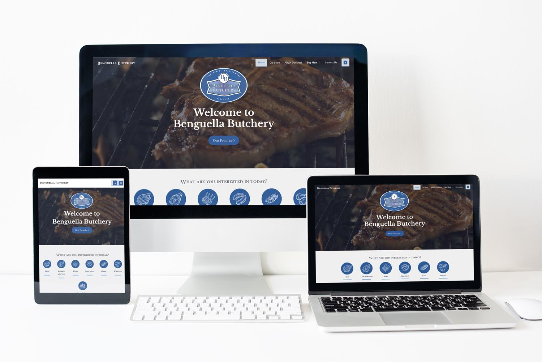 Benguella Butchery Website Mockup