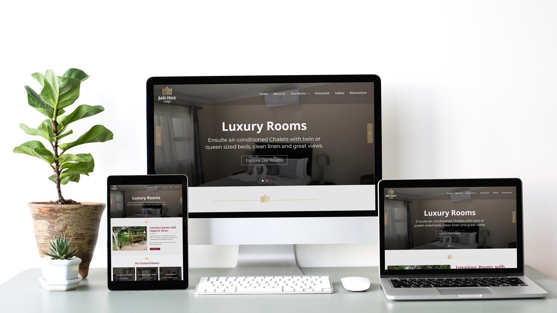 Juda Haus Lodge Website Mockup